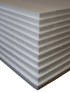 12 x Sheets Of Expanded Foam Polystyrene 1200x600x25mm